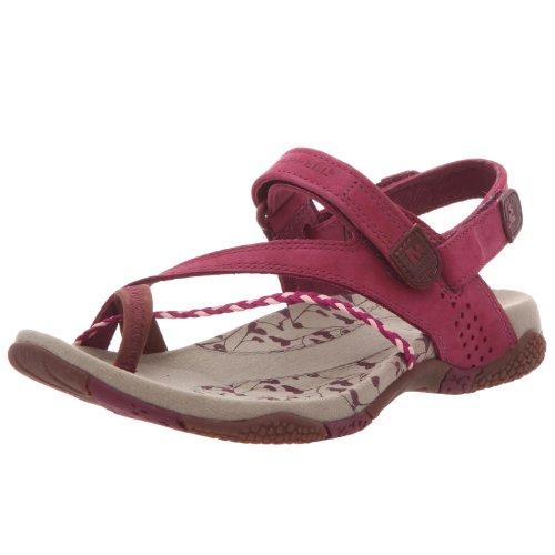 Merrell - Sandalias de cuero para mujer Morado