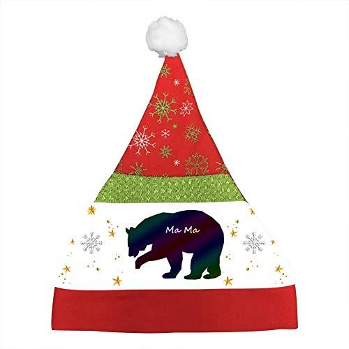 Custom Bear Clipart-Mama Christmas Hat Xmas Mini Santa Caps Party Cap Kids - Bears Clipart