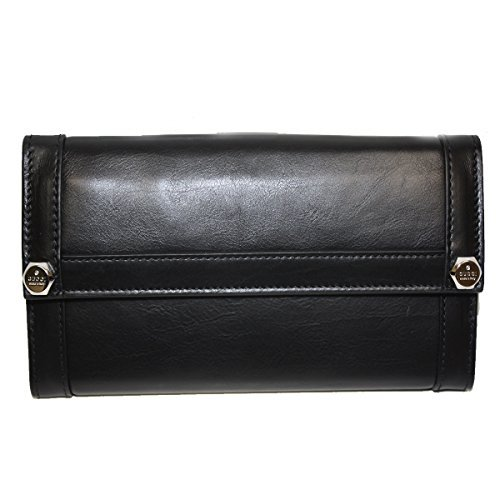 Gucci Wallets Continental Wallet (Gucci Leather Continental Flap Wallet 231839, Black)
