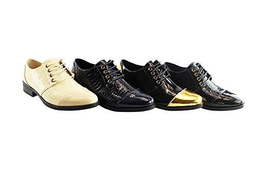 Liyu para Negro de Mujer Vestir Zapatillas qqWUa6SZ