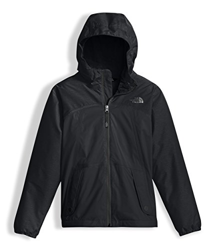 The North Face Kids Girl's Warm Storm Jacket (Little Kids/Big Kids) TNF Black/TNF Black Heather Large ()