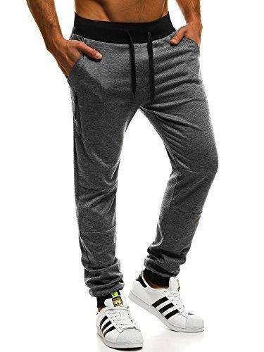 OZONEE Pantalones para hombres Pantalones deportivos Pantalones para correr Pantalones de chándal para hacer fitness Jogger SJ… aBId3