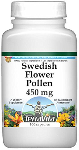 Swedish Flower Pollen - 450 mg (100 Capsules, ZIN: 521490) - 2 Pack