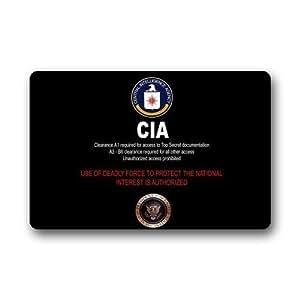 Tommy Gta CIA Badge fondo Felpudo/puerta Pad para el cuarto de baño Uso en interiores??. 23.6inch (L) X 15,7(W)