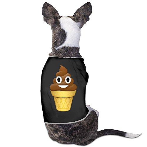 Ice Cream Emoji Poop Emoticon Chocolate Costumes Dog Hoodie Charming Cozy