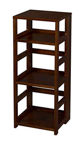 Niche Flip Flop 34″ High Square Folding Bookcase, Mocha Walnut