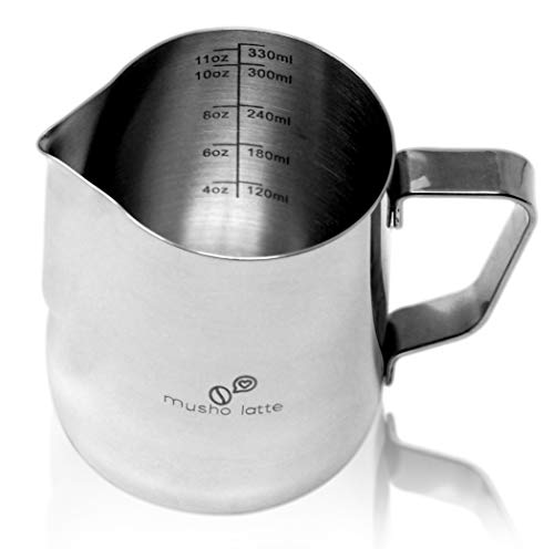 Musho Latte Frothing Pitcher, Steaming Pitcher Stainless