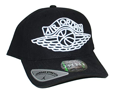 Jordan Air Jumpman Logo Mens Hat, (S/M) Black
