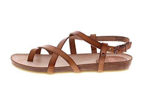 Fred de la Bretoniere Riemchen Sandale, Sandalias de Gladiador Para Mujer Marrón (Light Brown)