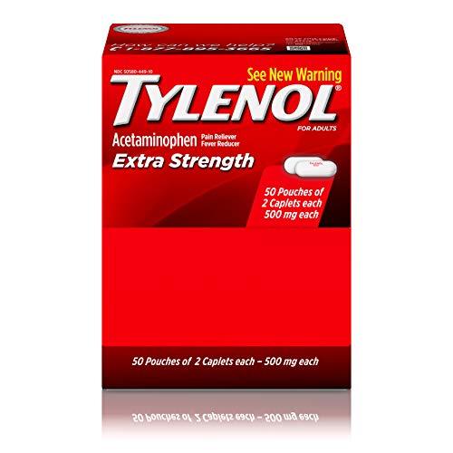 (Tylenol(R) Extra-Strength, 2-Caplet Dosage, 100 caplets total,500mg each )