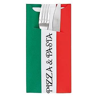 100 Unidades - García de Pou 169.58 Bolsas Cubiertos con Servilleta Just in Time Pizza y Pasta, 90 + 10 Pe G/M2, 11.2 x 22.5 cm, Blanco Celulosa: Amazon.es: Industria, empresas y ciencia