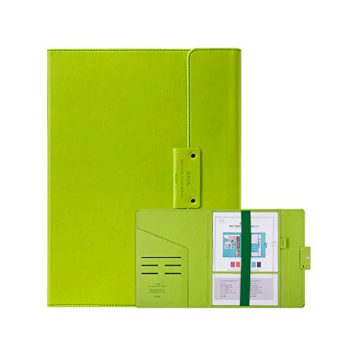 DGF A4 Clip Board, Leather Writing Pad Hotel File Board Clip (L24.5cm H33.5cm) ( Color : Green ) by Great St.