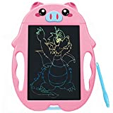 QISHI YUHUA LCD Writing Tablet 9 Inch,Colorful Doodle Board Drawing Board, Birthday Present for 2-6 Years Old Girl, Perfect Gifts for Girls Boys Toys Little Kids - Pink Pig
