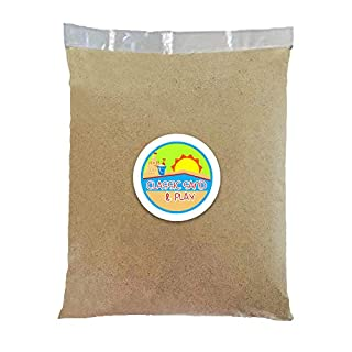 Classic Sand and Play Sand for Sandbox, Table, Therapy, and Outdoor Use, 20 lb. Bag, Natural, Non-Toxic, Wet Castle Building for Creativity and Stimulates Sensory Skills