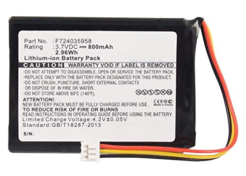 Synergy Digital Battery Compatible with Tomtom F724035958 Replacement Battery (Li-Ion, 3.7V, 800 mAh) - Repl. Tomtom F702019386 Battery
