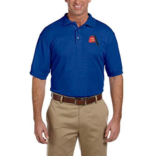 red Masonic Men's Polo Shirt - [True Royal][X-Large] ()