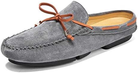 ローファー メンズ かかとなし スリッパ スウェード スエード 靴 春夏 軽量 カジュアル フォーマル リボン ドライビングシューズ スリッポン 通気 サボサンダル シンプル 柔らかい 靴 滑り止め 室内 社内サンダル