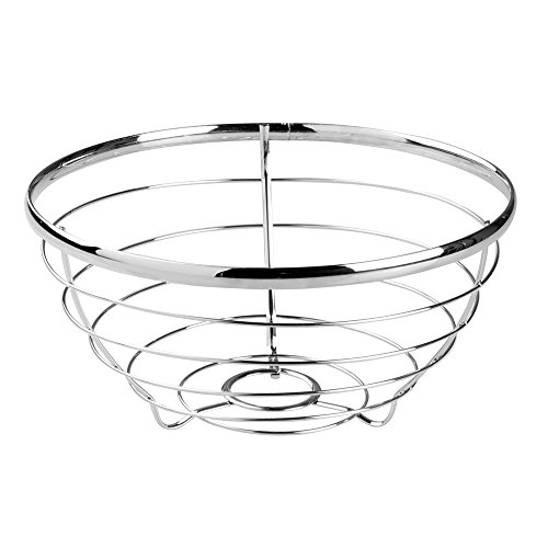 InterDesign Axis Fruit Bowl for Kitchen Countertops - Chrome