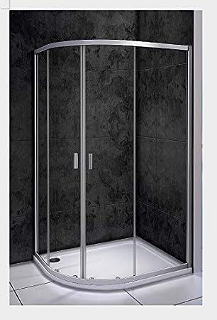 185 cm redondo ducha Cuadrante Mampara de ducha Nano Puerta ...