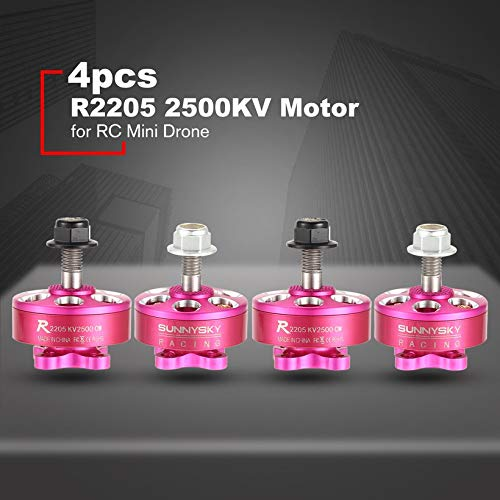 4pcs SUNNYSKY R2205 2205 CW/CCW 2500KV 3-4S Brushless Motor for Mini Drone RC by Wikiwand (Image #1)