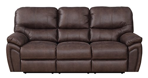 Mstar MNY2447-47-0000-27399 Reeves Reclining Sofa, 86.5″ x 38″ x 40″, Brown