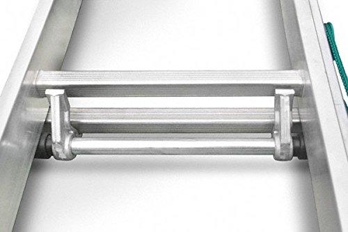 Echelle coulissante aluminium 2 plans avec corde lat/érale