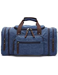 Baybby Canvas Weekend Tote Bag Extra Large Weekender Luggage Travel Duffle Bag for Men Women