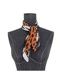 Soft Polyester Silk Bandana Scarves Fashion Print Leopard Cheetah Tiger Skin Scarfs For Hair Scarf Hair Hair Scarves Multiple Ways Of Wearing Daily Decor