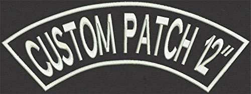 Top Custom Rocker Patch for Motorcycle, Biker, Name, 12