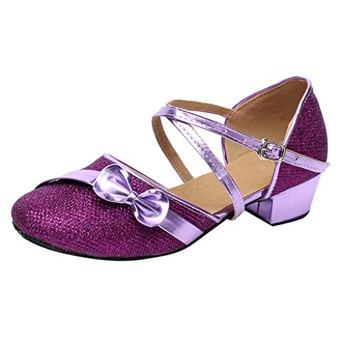 Baby Shoes Toddler Baby Girls Kids Single Party Princess Sandals Tango Latin Dancing Shoes Pumps Wedges Purple