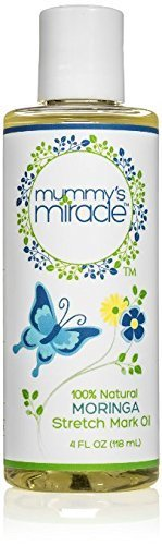 Mummy's Miracle Moringa Stretch Mark removal oil and scar reducer 4 oz - Single