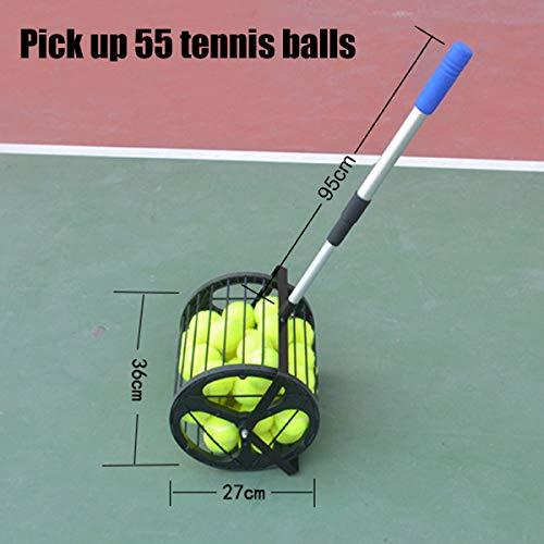 FidgetFidget Tennis Ball Picker Hopper Retriever Mower Collector Pick Up 55 Balls