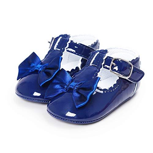 Antiscivolo Blu Principessa Scuro Della Battesimo Primi Bowknot Scarpe  Lacofia Passi Bambina Neonata Da P06wqB f9ceb8bd824