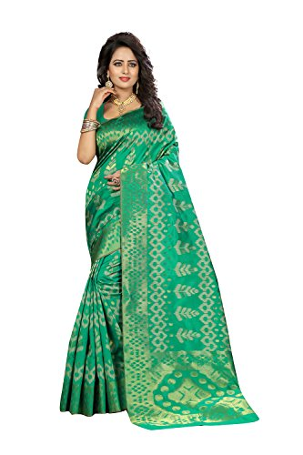 Seta Il Vino Design Colore Kanjivaram Party Usura Per Verde Indiani Sari Donne In pxfUTAHfn