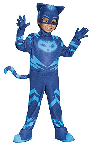 Disguise UHC Boy's PJ Masks Deluxe Catboy Outfit Funny Theme Child Halloween Costume, Child S (4-6) -