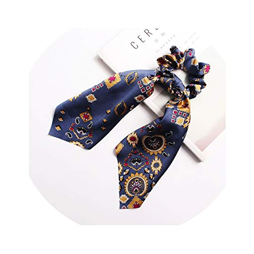 (Elegant Floral Leopard Streamers Bow Hair Ties For Girls,15)