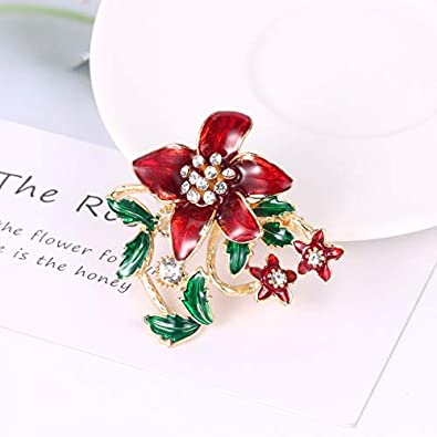 Gyn/&Joy Holiday Christmas Jewelry Xmas Tree Brooch Pin with Colorful Crystal Lights /& Ornaments