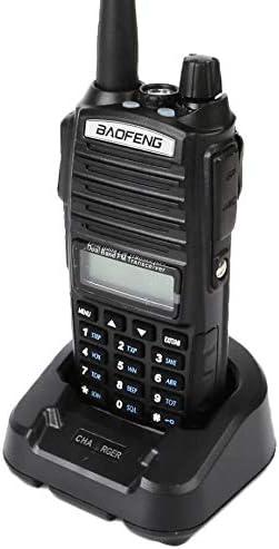 QUANBIAO UV-82 Dual Band Two Way Radio 136-174 and 400-520MHz Walkie Talkie Ham Radio Black