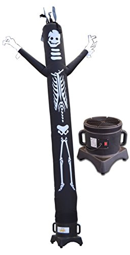 LookOurWay Skeleton 10-Feet Tall Air Dancers Inflatable Tube Man Complete Set with 1/3 HP Sky Dancer Blower by LookOurWay