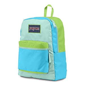JanSport Overexposed (Mammoth Blue / Aqua Dash / Zap Green)