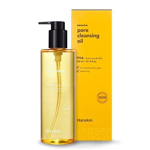 Hanskin Pore Cleansing Oil, Gentle Blackhead Cleanser and Makeup Remover for Sensitive Skin - Official 2019 Exclusive USA Exported Version [PHA/10.14 oz]
