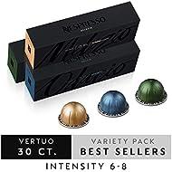 Nespresso Vertuo Variety Pack | Stormio + Odacio + Melozio | 30-Count Single Serve Coffee Capsules