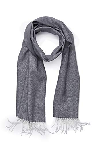 (INVERNO Super Soft Luxurious Cashmere Feel Warm Winter Pattern Design Unisex Scarf (Gray)