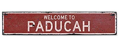 Welcome to Paducah - Vintage US Paducah, Kentucky Distressed Custom Wooden City Sign