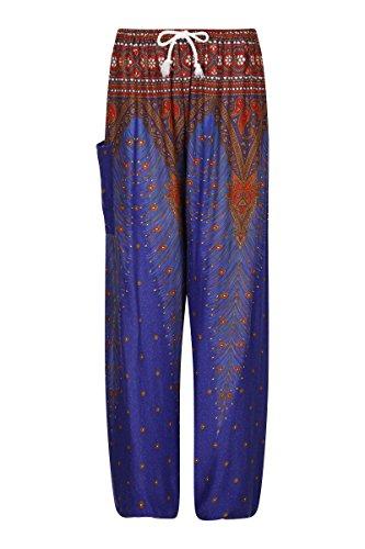 nbsp;– Thaiuk Harén Saphire Cintura Con Cordón En Peacock nbsp;aladdin Hippie Pantalones La EEgqrS