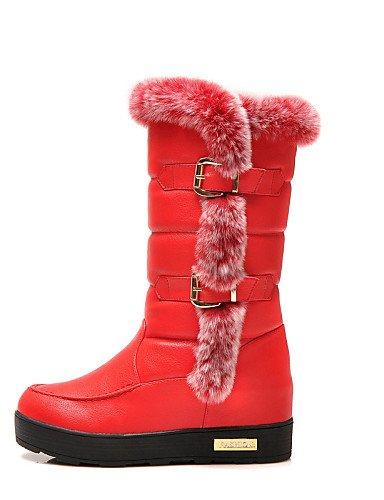 A 5 7 Black 5 Eu36 Noche Red Zapatos Botas 5 Uk3 us6 negro Tacón Sintético La Y us5 Nieve Xzz Uk4 Vestido Mujer De Cn35 Plano Eu37 5 Cn37 5 Casual Moda Fiesta 06pqqBW