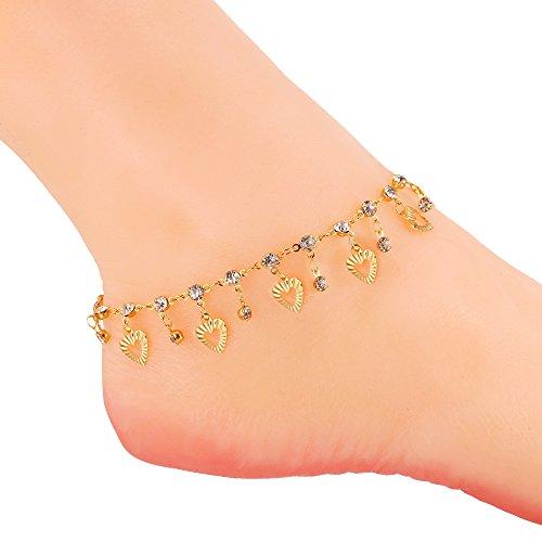 U7 Anklets Bracelet Jewelry Rhinestone