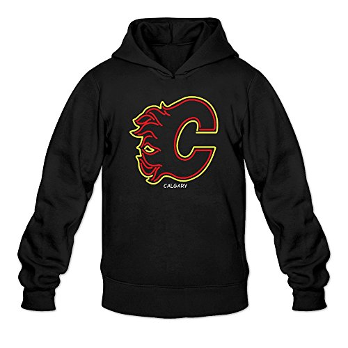 fan products of Calgary Flames Neon Sign Logo Sweatshirts Mens Black