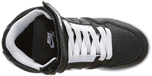 NIKE Kids Mogan Mid 2 Jr Skateboarding Shoes Black (Black/White/Black) y1XXPLPcE9