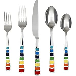 Fiesta 20-pc. Masquerade Mirror Flatware Set